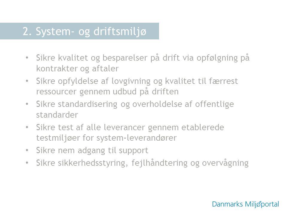 2. System- og driftsmiljø