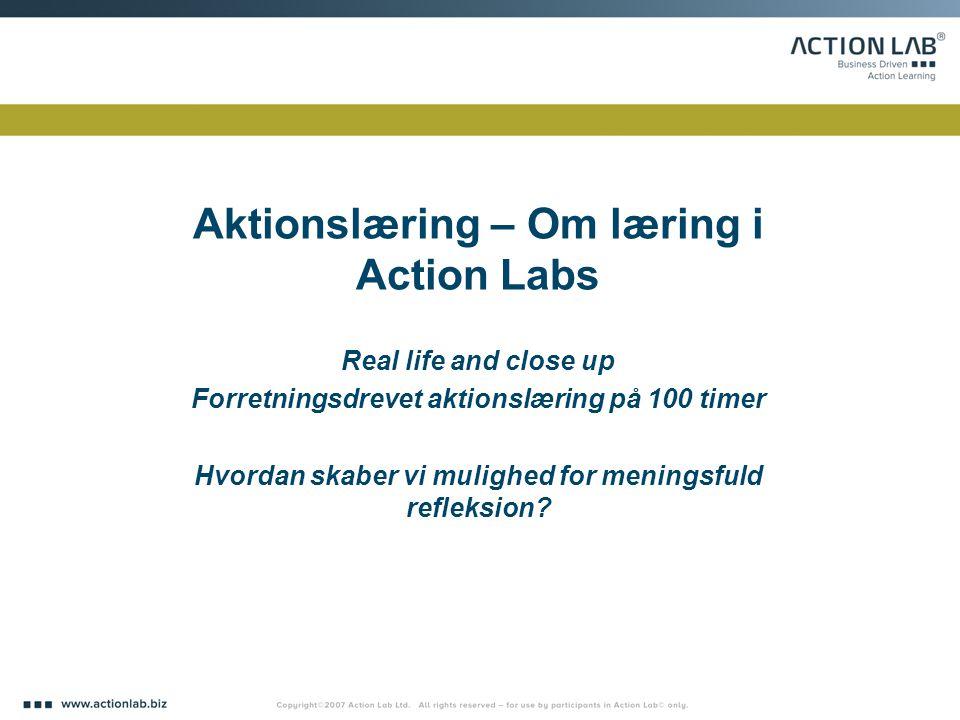 Aktionslæring – Om læring i Action Labs