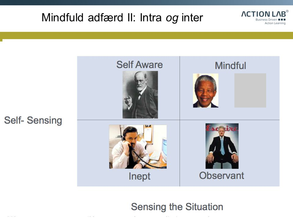 Mindfuld adfærd II: Intra og inter
