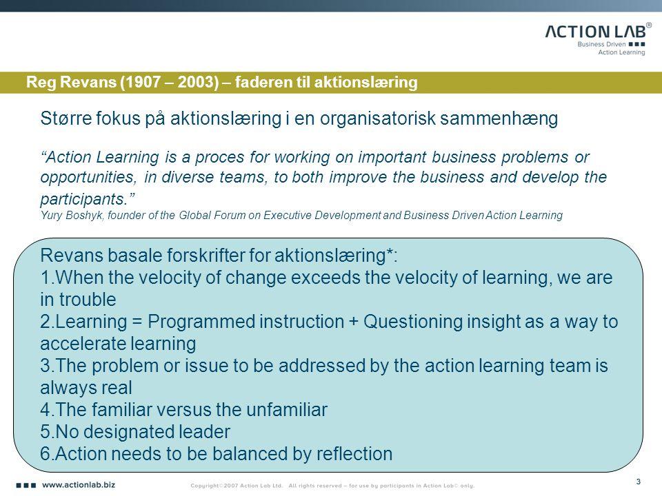 Større fokus på aktionslæring i en organisatorisk sammenhæng