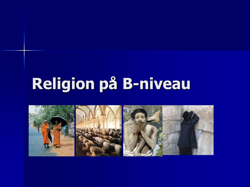 Religion på B-niveau