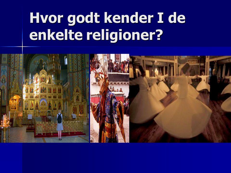 Hvor godt kender I de enkelte religioner