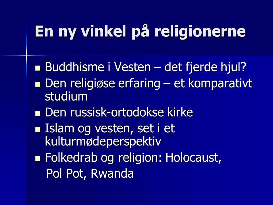 En ny vinkel på religionerne