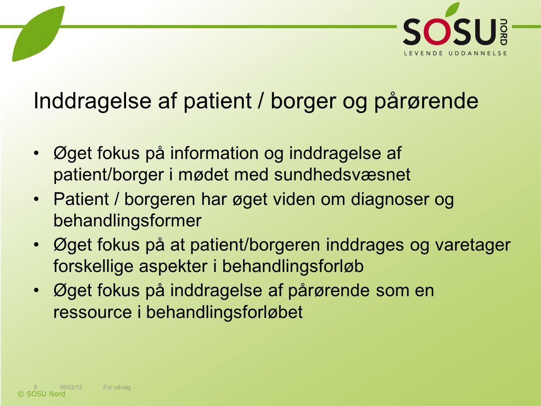 Inddragelse af patient / borger og pårørende
