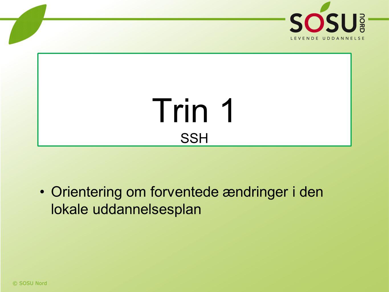 Trin 1 SSH Orientering om forventede ændringer i den lokale uddannelsesplan