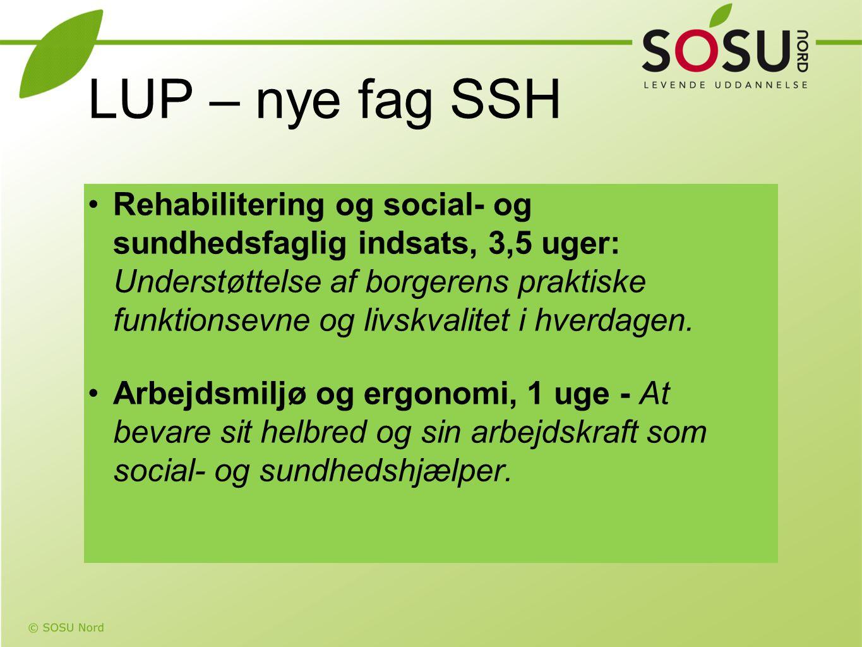 LUP – nye fag SSH