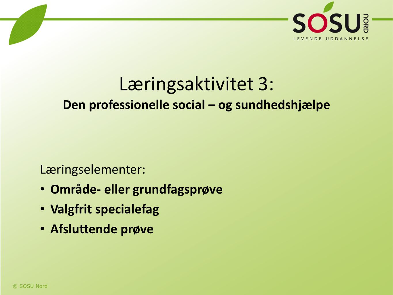 Læringsaktivitet 3: Den professionelle social – og sundhedshjælpe