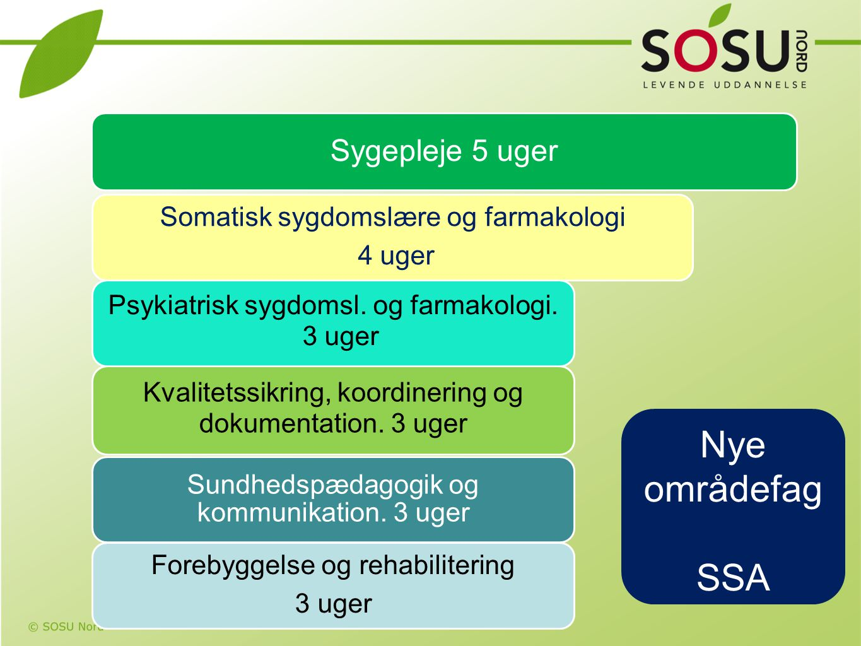 Nye områdefag SSA Sygepleje 5 uger Somatisk sygdomslære og farmakologi