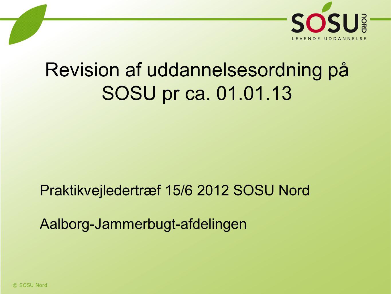 Revision af uddannelsesordning på SOSU pr ca. 01.01.13