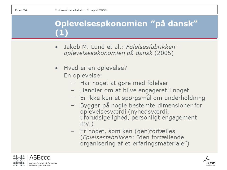 Oplevelsesøkonomien på dansk (1)