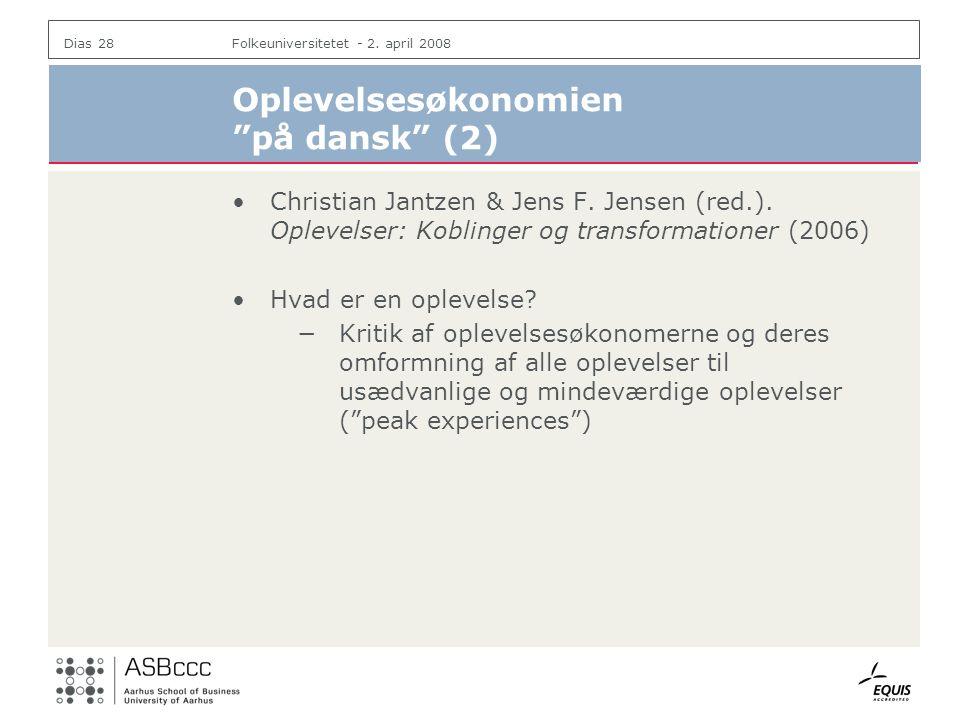 Oplevelsesøkonomien på dansk (2)