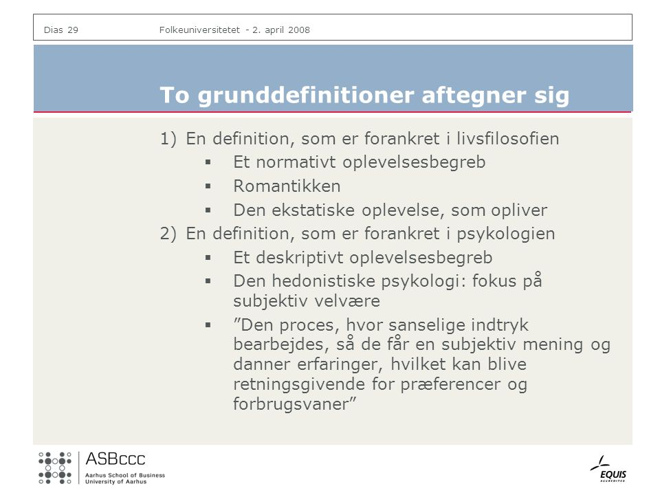 To grunddefinitioner aftegner sig
