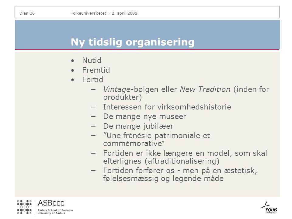 Ny tidslig organisering