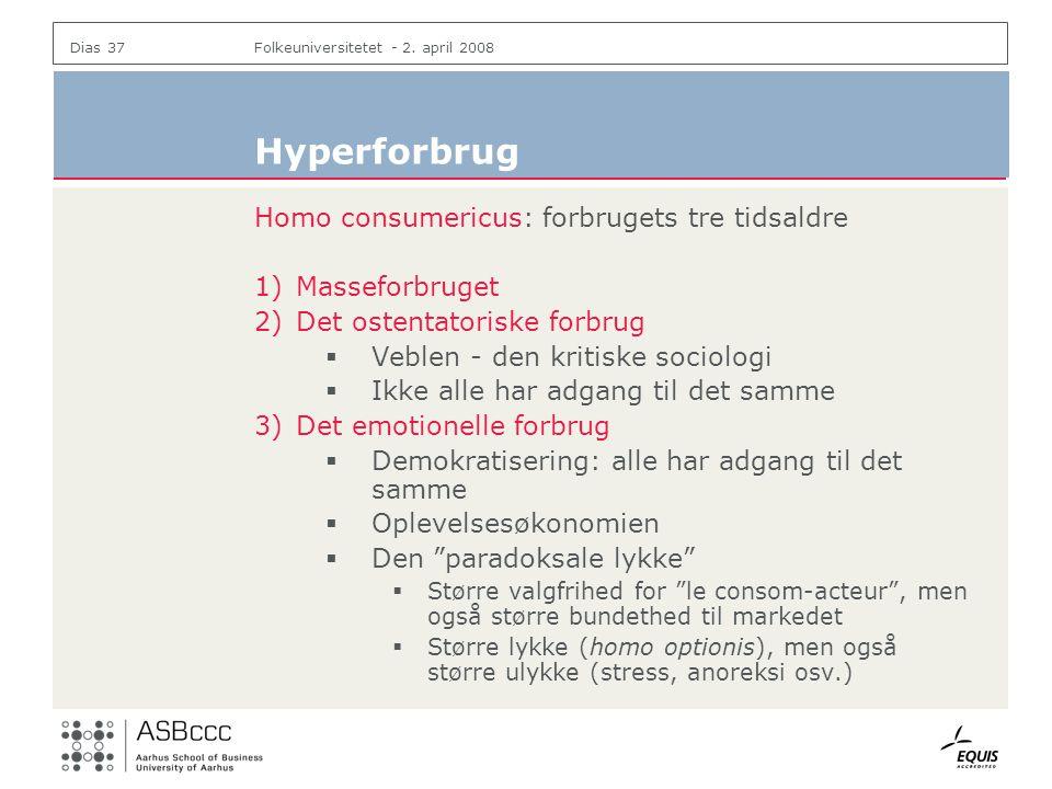 Hyperforbrug Homo consumericus: forbrugets tre tidsaldre