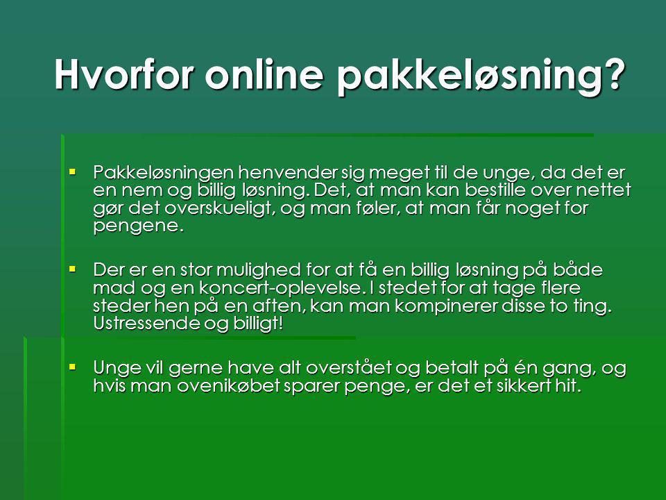 Hvorfor online pakkeløsning