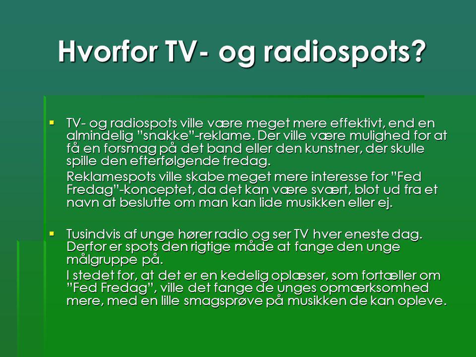 Hvorfor TV- og radiospots