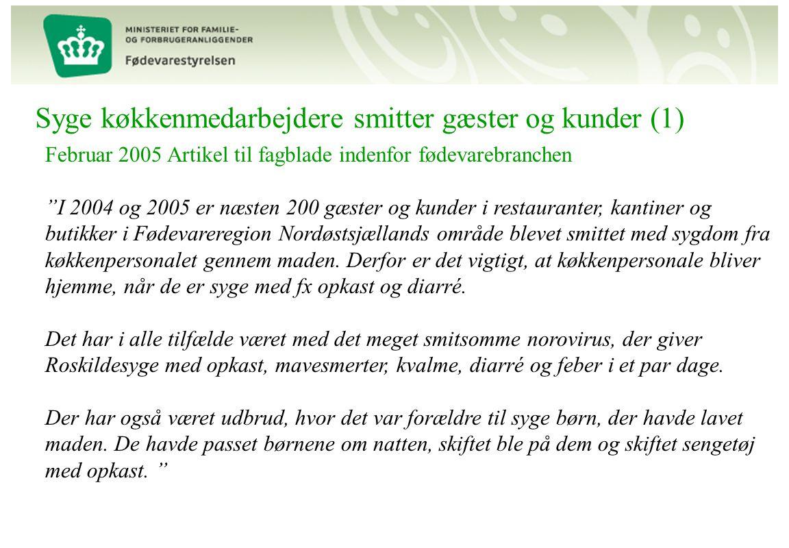 Syge køkkenmedarbejdere smitter gæster og kunder (1)