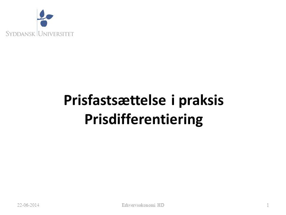Prisfastsættelse i praksis Prisdifferentiering