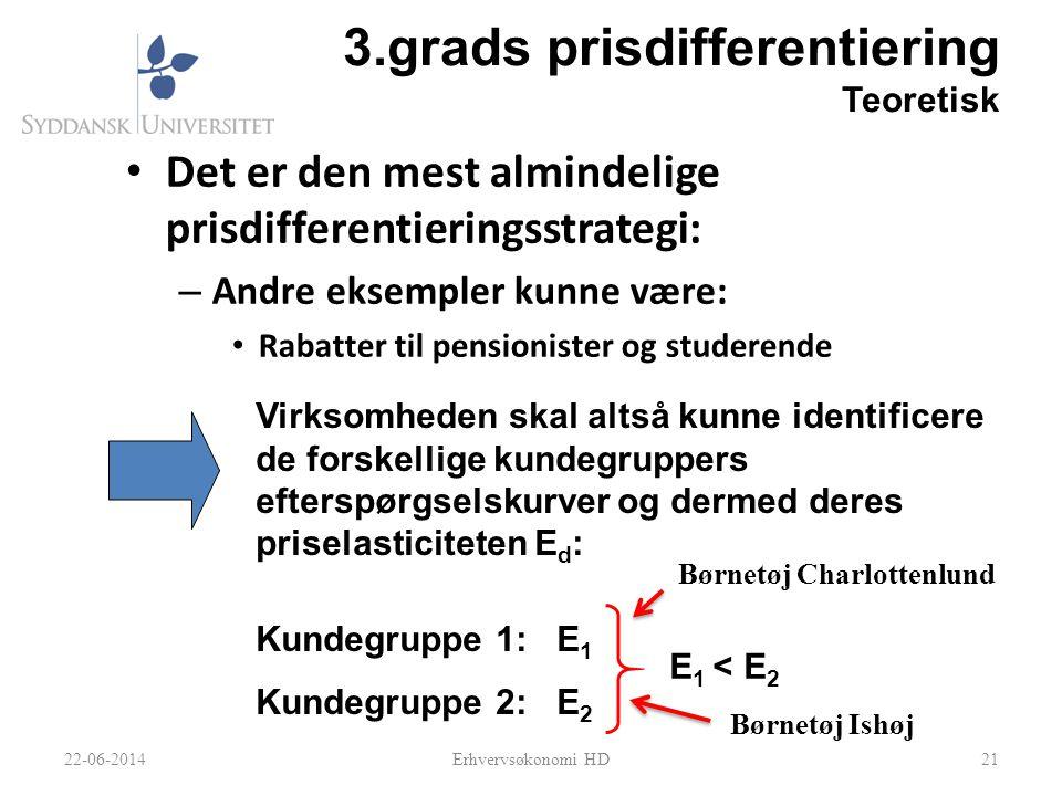 3.grads prisdifferentiering Teoretisk