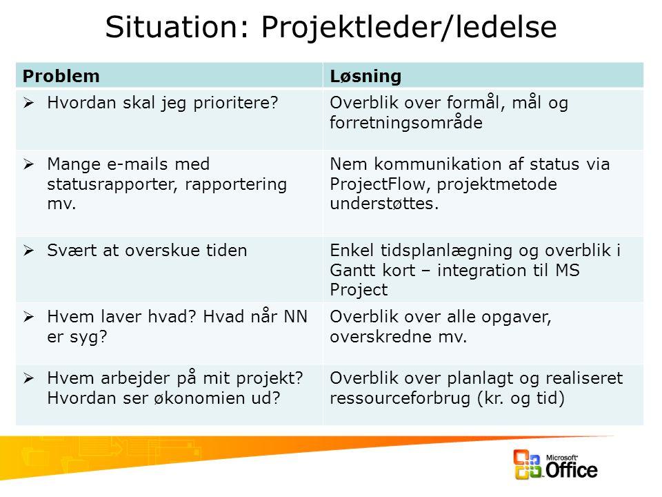 Situation: Projektleder/ledelse