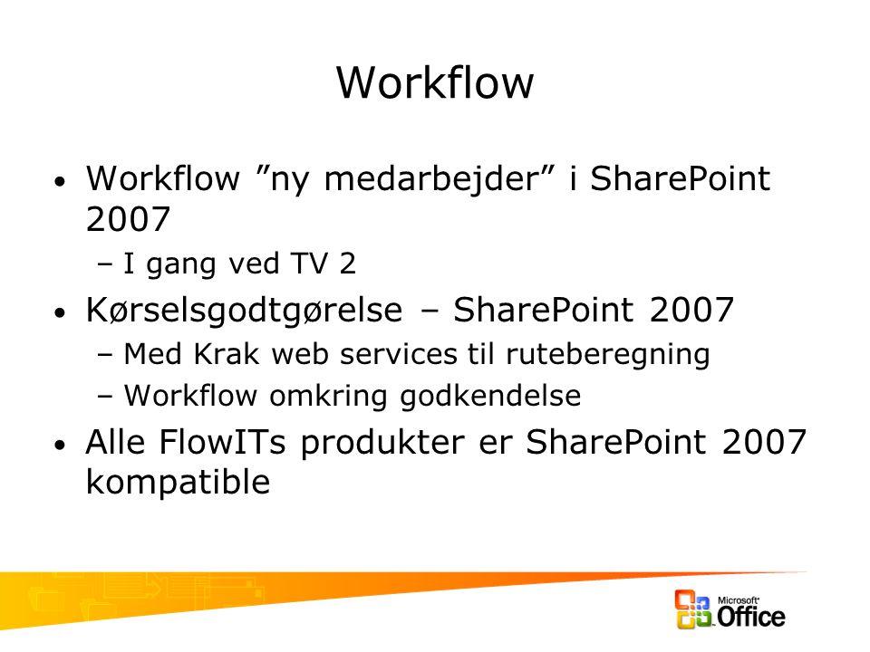 Workflow Workflow ny medarbejder i SharePoint 2007