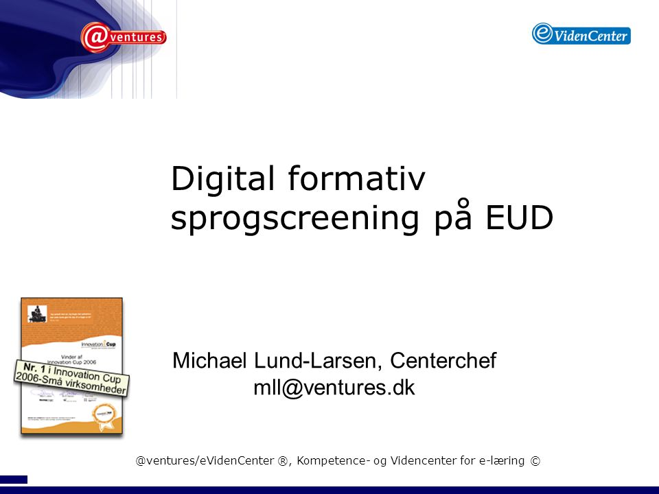 Diigital formativ sprogscreening på EUD - Elevplankonference