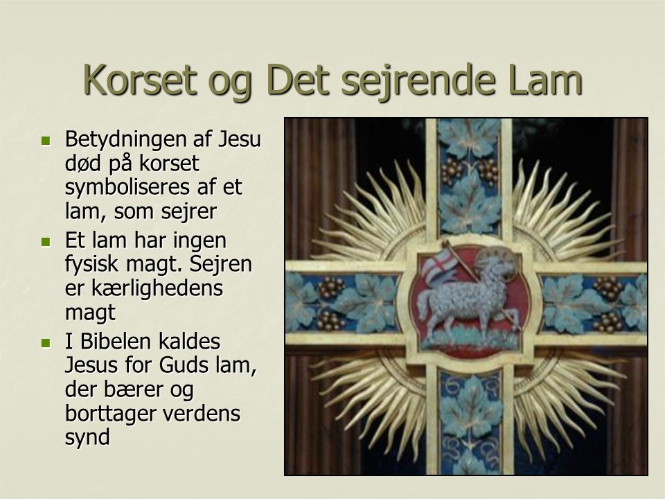 Korset og Det sejrende Lam