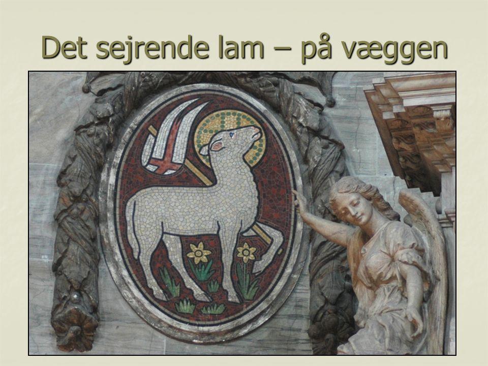 Det sejrende lam – på væggen