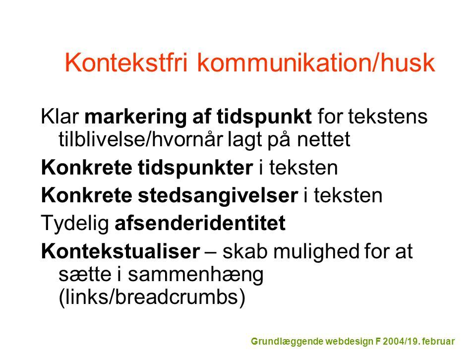 Kontekstfri kommunikation/husk