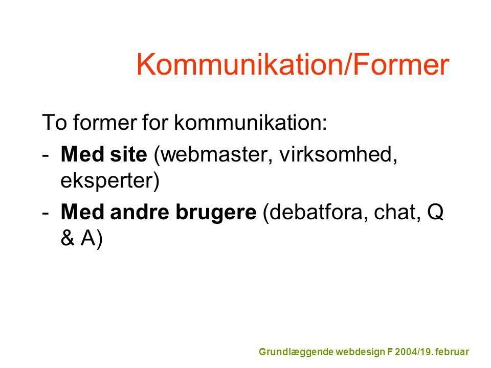 Kommunikation/Former