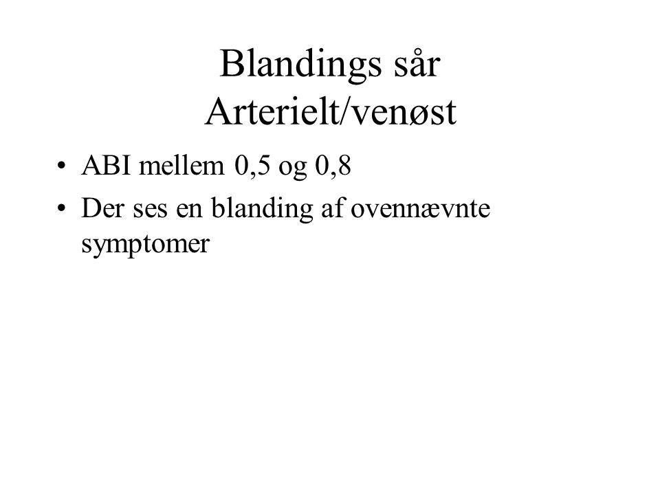 Blandings sår Arterielt/venøst