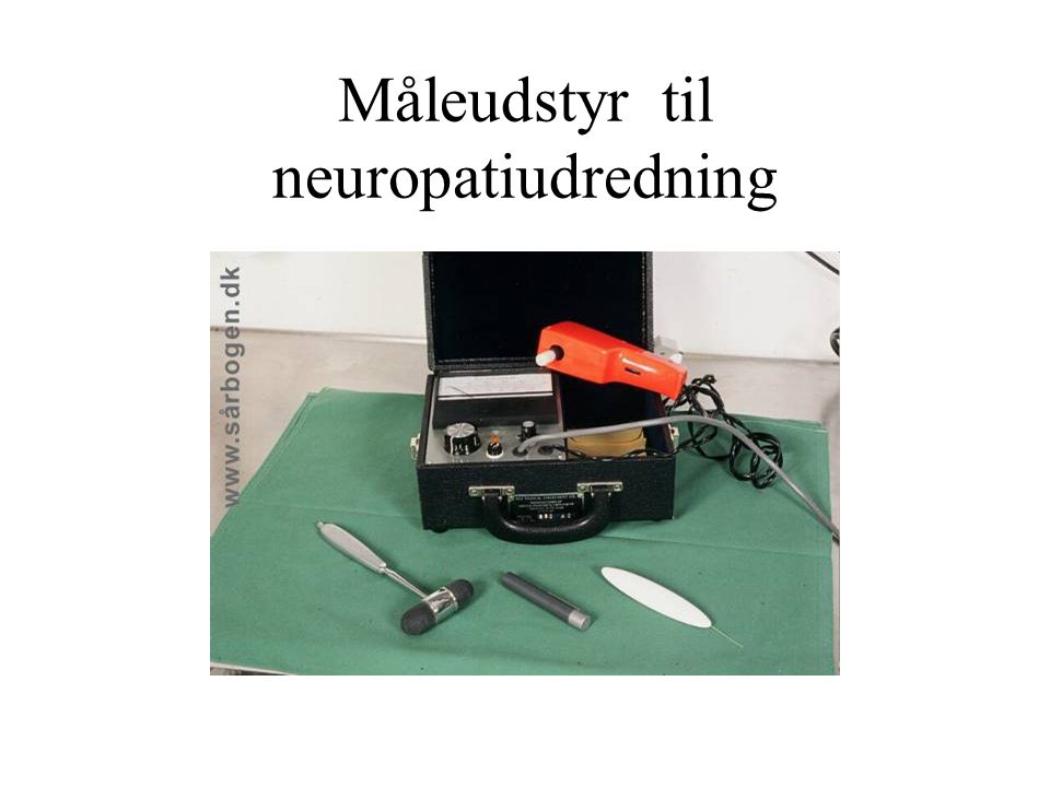 Måleudstyr til neuropatiudredning