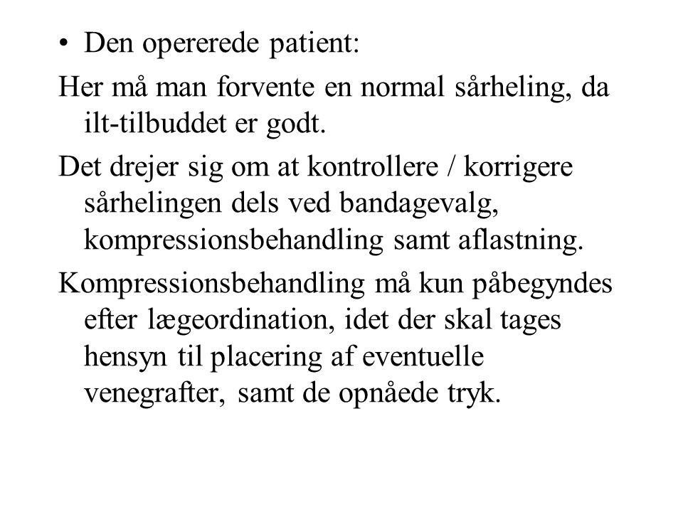Den opererede patient: