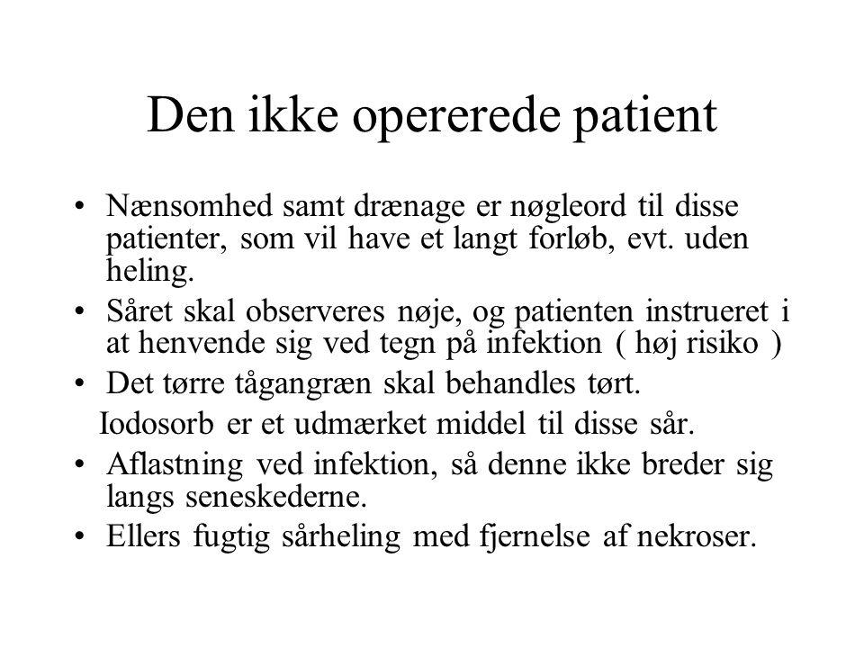 Den ikke opererede patient
