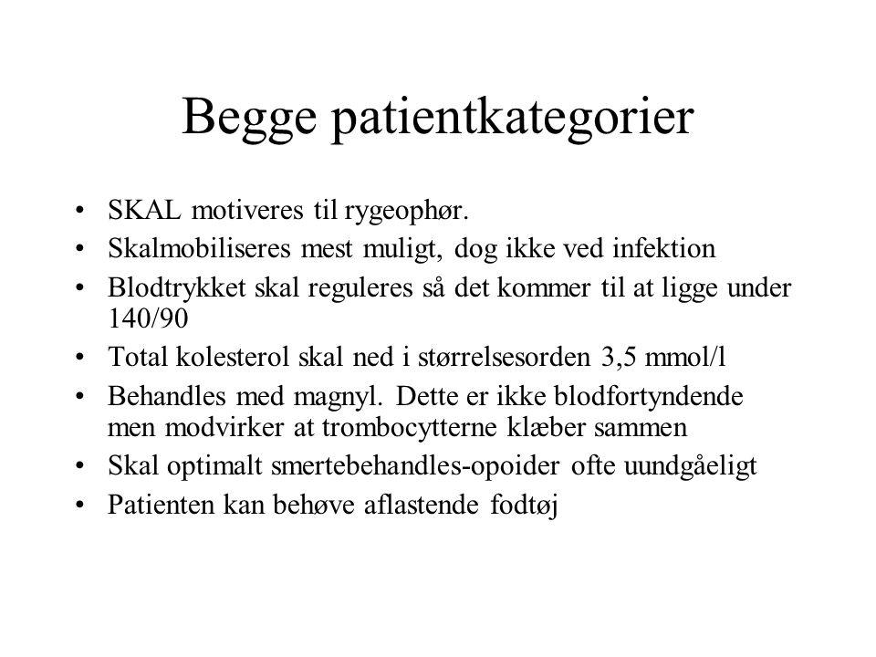 Begge patientkategorier