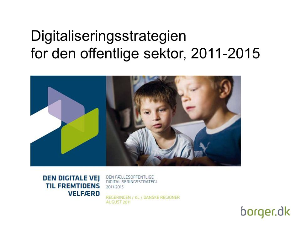 Digitaliseringsstrategien for den offentlige sektor,
