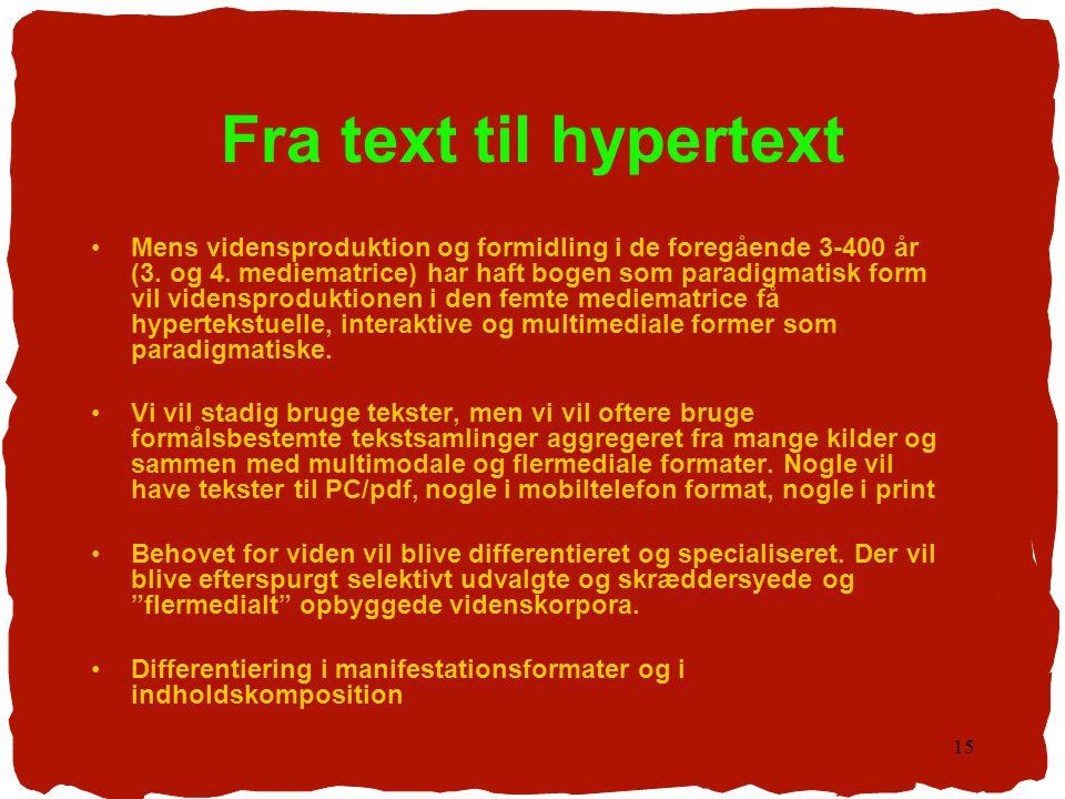 Fra text til hypertext