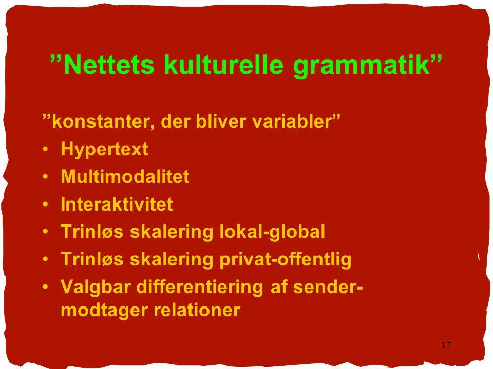 Nettets kulturelle grammatik