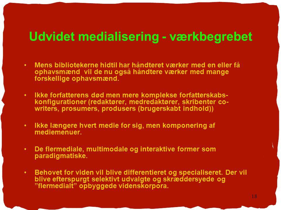 Udvidet medialisering - værkbegrebet