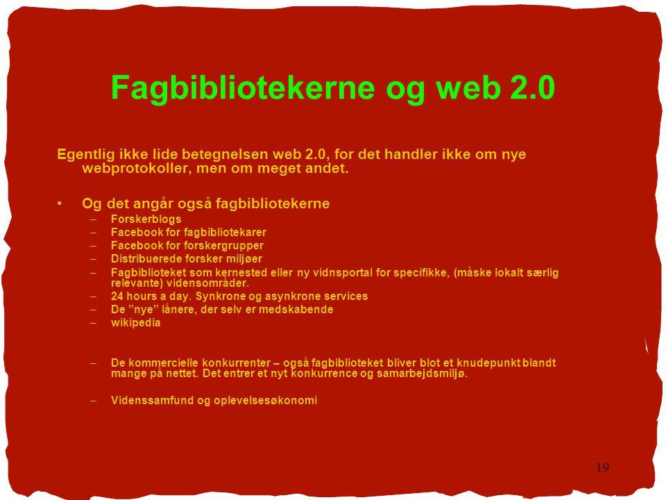 Fagbibliotekerne og web 2.0