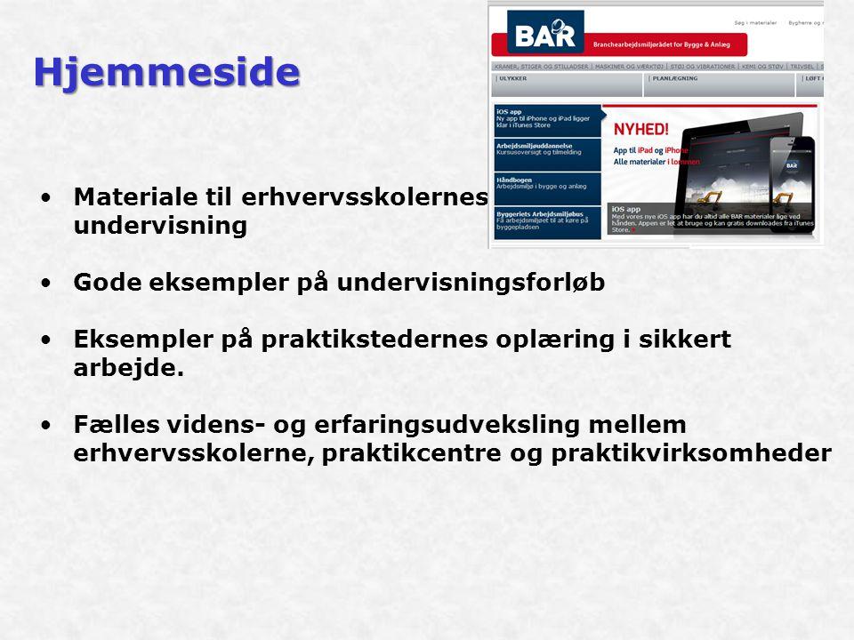 Hjemmeside Materiale til erhvervsskolernes undervisning