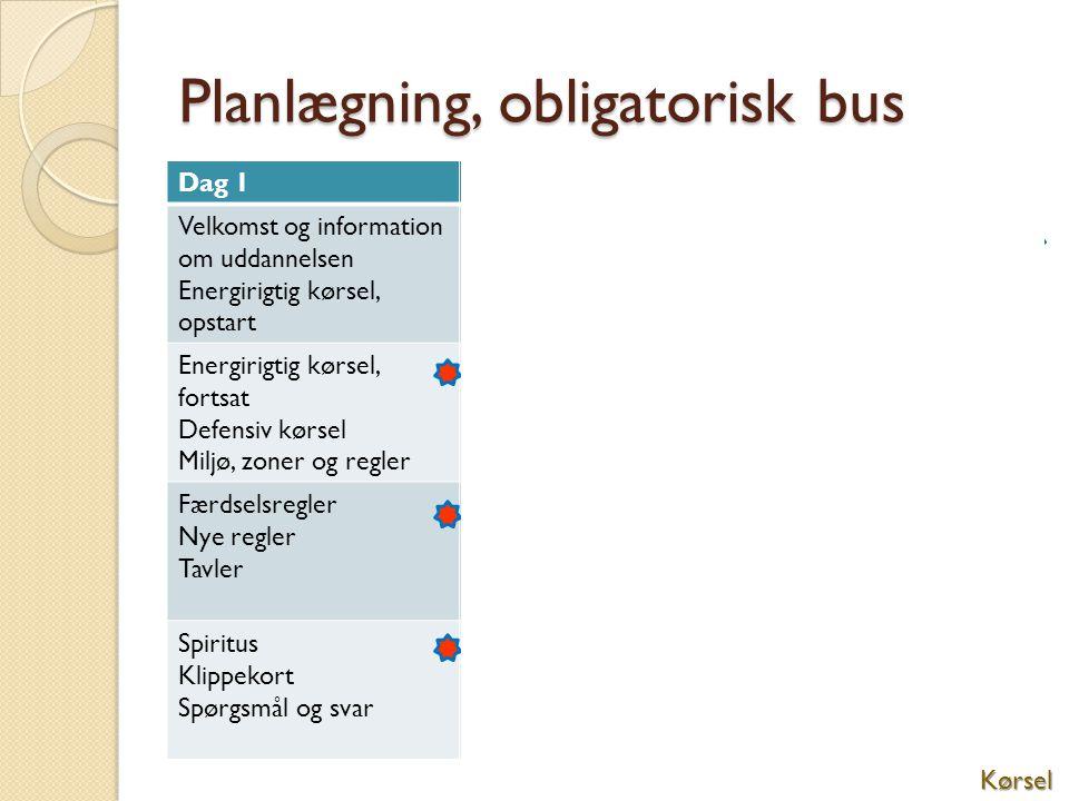 Planlægning, obligatorisk bus