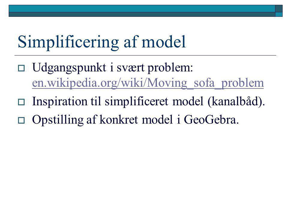 Simplificering af model