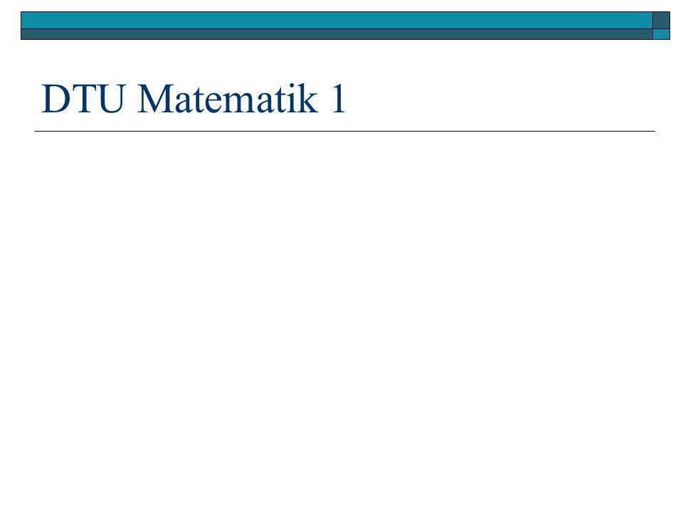 DTU Matematik 1