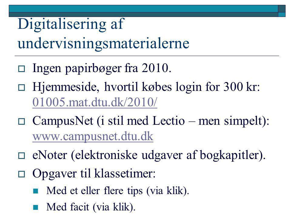 Digitalisering af undervisningsmaterialerne