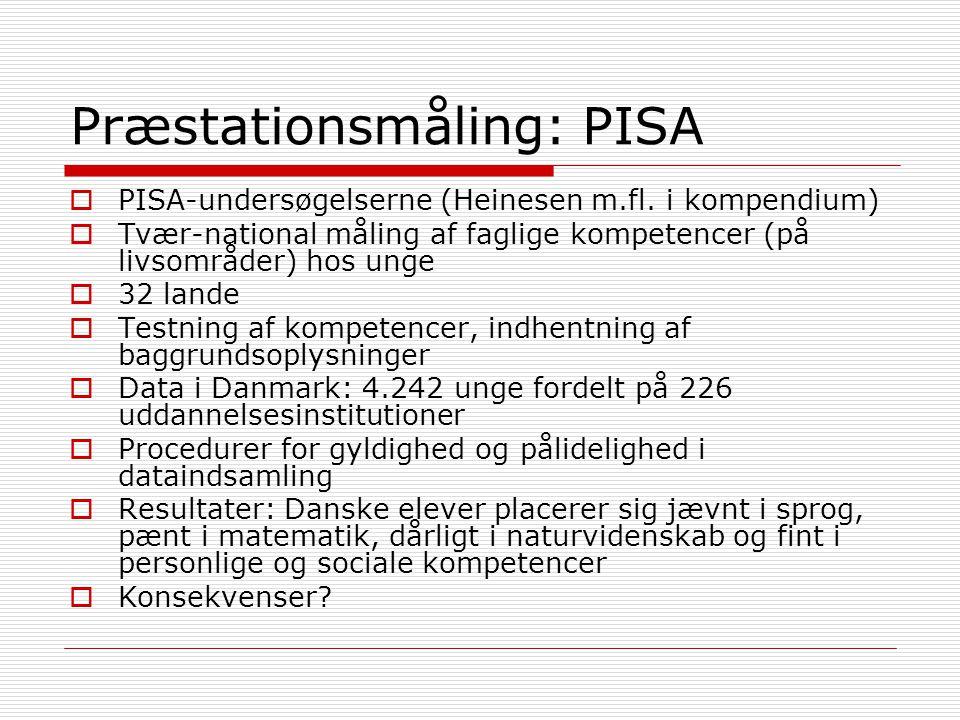 Præstationsmåling: PISA