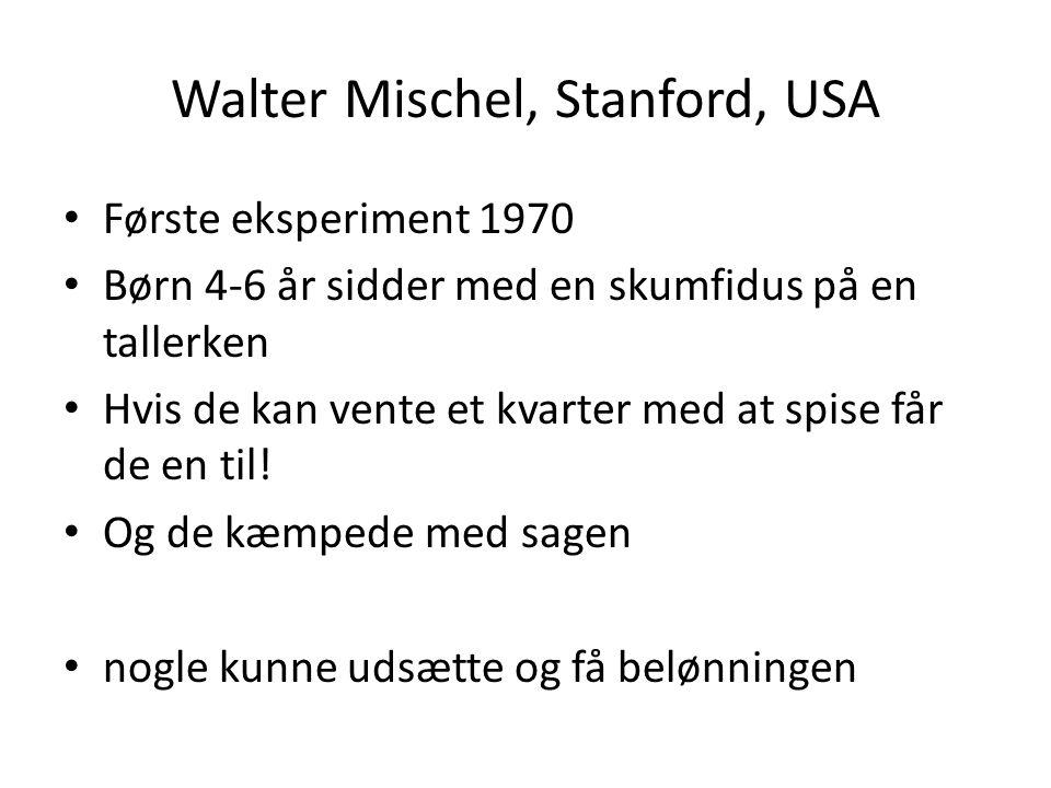 Walter Mischel, Stanford, USA