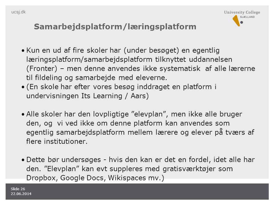 Samarbejdsplatform/læringsplatform