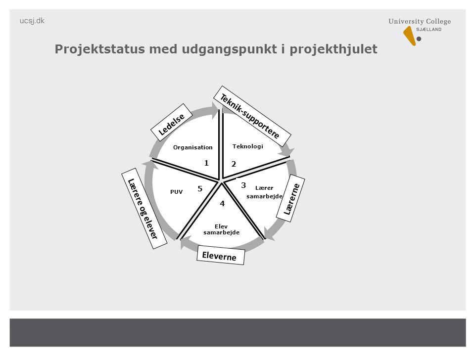 Projektstatus med udgangspunkt i projekthjulet