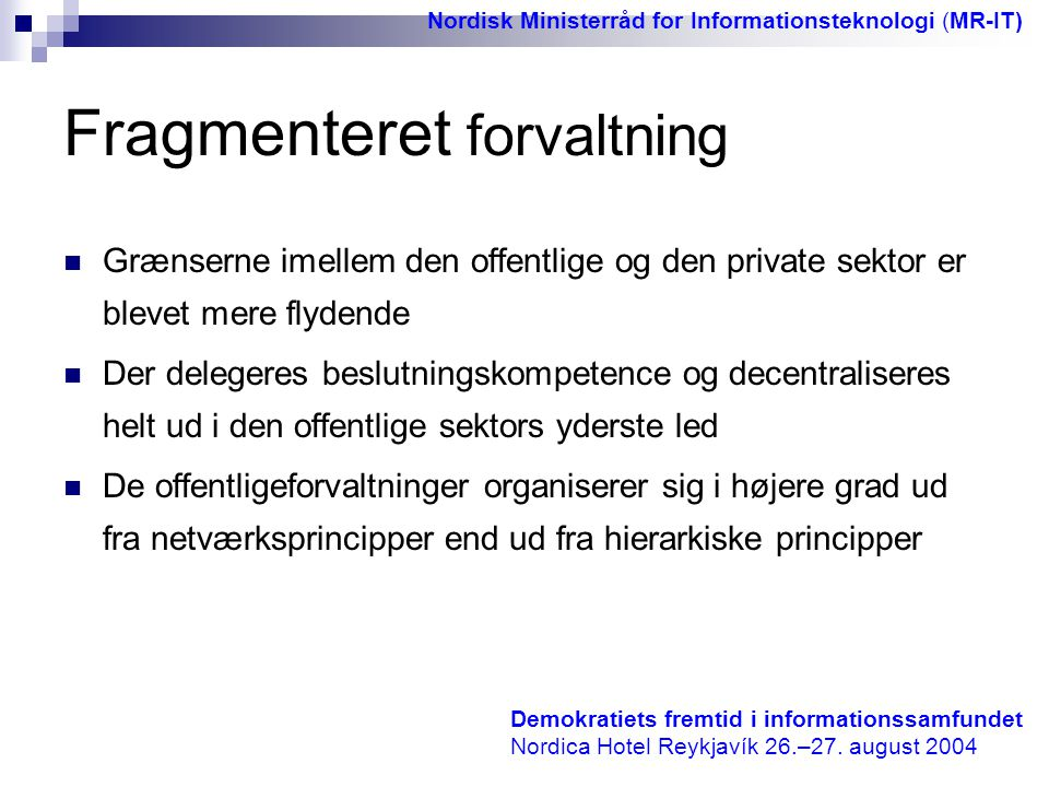 Fragmenteret forvaltning
